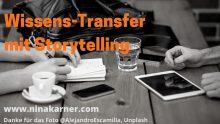 Kaffeeklatsch war gestern. Heute ist das Treffen in der Kaffeekuche eines Unternehmens die wertvolle Basis für Wissens-Transfer mit Storytelling
